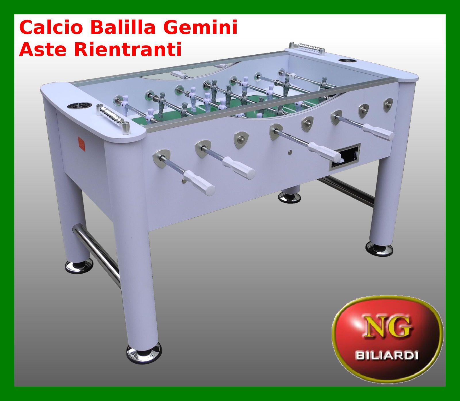 Calcio balilla gemini aste rientranti calcetto biliardino nuovo robus ebay - Calcio balilla design ...