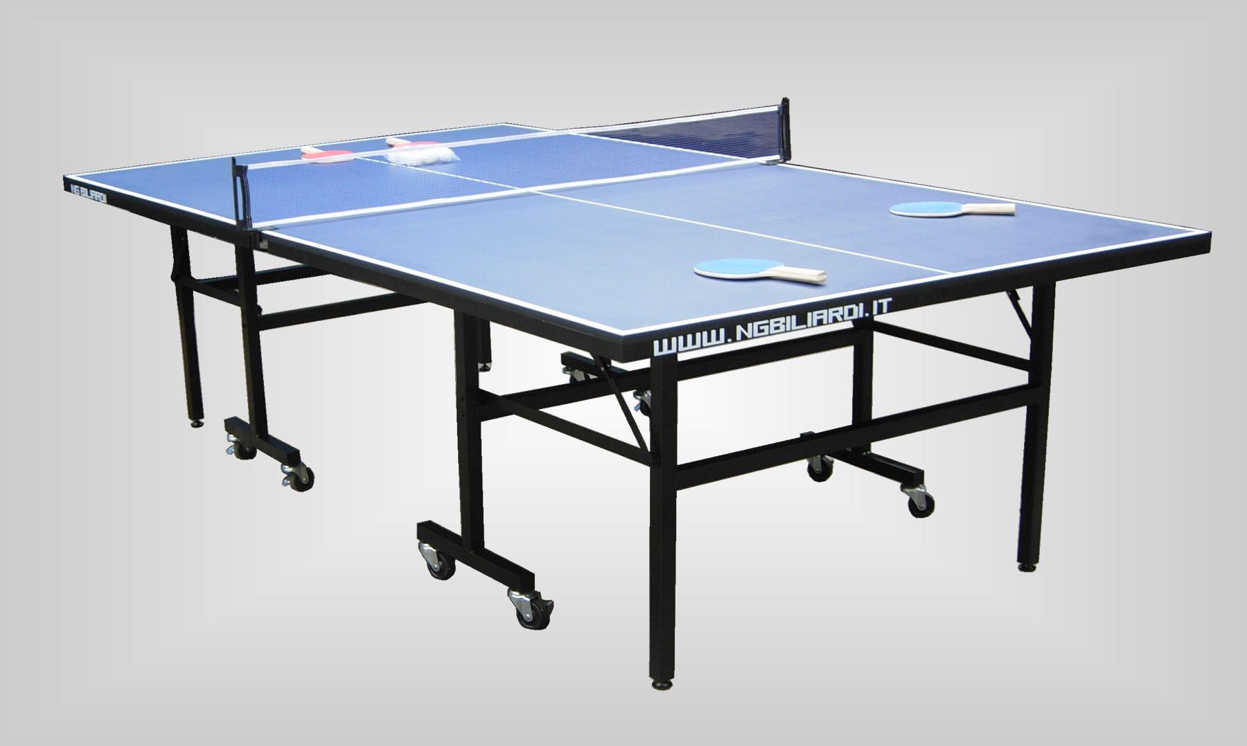 Ping pong winbledon interno blu professionale ng - Tavolo ping pong interno ...